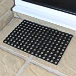 JVL Rubber Ring Heavy Duty Outdoor Entrance Door Mat 40 x 60 cm 4