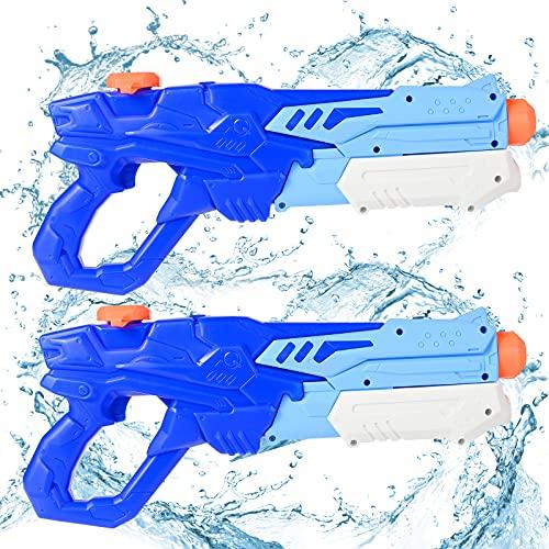 GOLDGE Wasserpistole Spielzeug Set 2x600ML Wasserpistole Schwimmbade Spielzeug mit 500PCS Wasserbomben für Kinder zum Sommerpartys Wassersport Spielzeug
