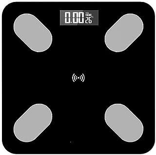 UYZ Báscula de Grasa Corporal Profesional Diseño Antideslizante para baño Báscula de Peso Inteligente Báscula de Peso inalámbrica Digital Balance Puede conectar la aplicación Bluetooth Duradera