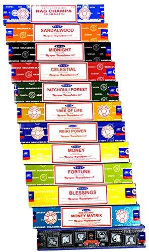 Satya Original Oriental Series Incienso Premium (12 aromas surtidos) (Prosperidad y Bienestar)