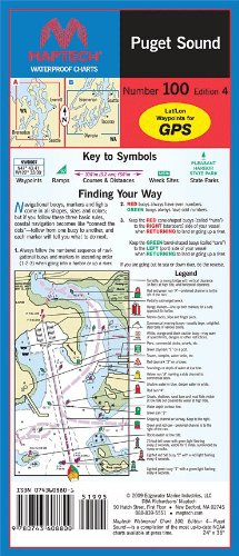 Maptech Waterproof Maps: Puget Sound, Number 100