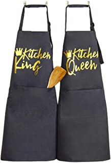SEIFINI Funny Grey Aprons for Men and Women with Pockets, Cooking Baking Apron for Chef, Birthday, Christmas, Thanksgiving...