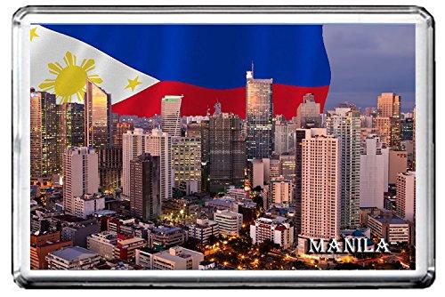 MANILA FRIDGE MAGNET 002 THE CAPITAL CITY OF PHILIPPINES MAGNETICA CALAMITA FRIGO