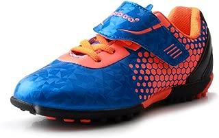 Kids Indoor Soccer Shoes Cleats Football Hook and Loop Strap(Toddler/Little Kid/Big Kid)