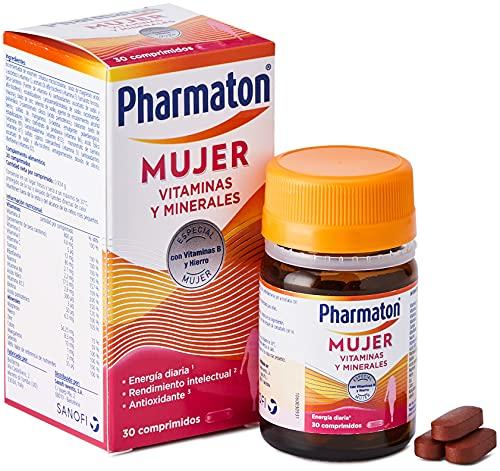 Pharmaton - Multivitaminas - Energía diaria - Mujer 30 comprimidos - Ayuda a las mujeres a mantener su vitalidad cada día