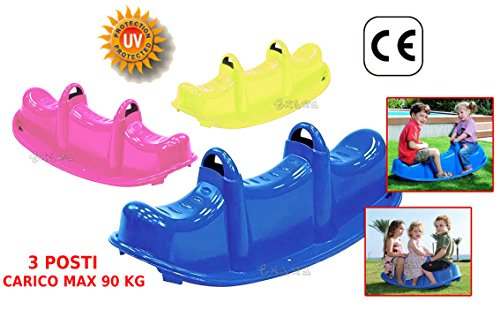loco by crazy shoes Dondolo Giardino 3 posti 3 Bambini Gioco per Bambini Peso Max 90Kg 47-509