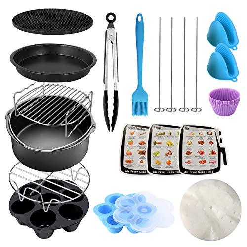 E-More Zubehör für Instant Pot, 13 PCS Schnellkochtopf Zubehör Set für Dampfkochtopf 3,5/5/6/8 QT, inklusive Dampfgarer, Kuchenpfanne, Pizzablech, Grillrost, Eierbeißform, Silikonhandschuhe