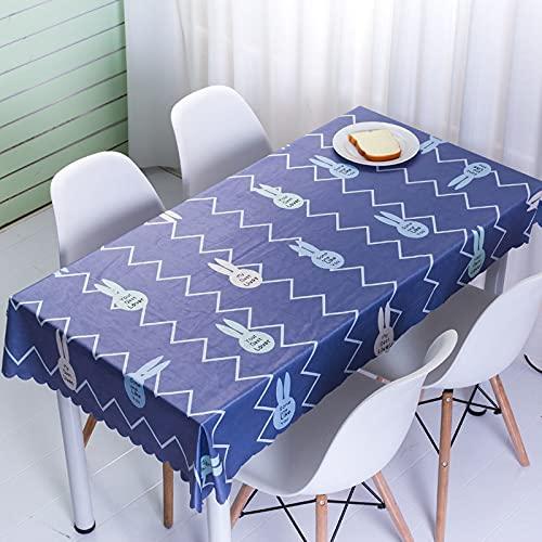 sans_marque Mantel de mesa, cubierta de mesa, cubierta de mesa lavable que se puede utilizar para decoración de mesa de cocina, mantel lavable de 100 x 160 cm