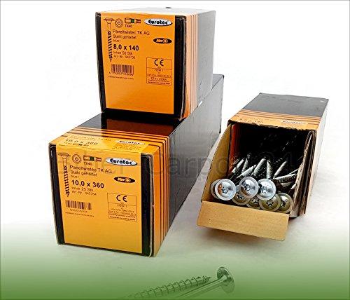 Eurotec Holzbauschraube Paneltwistec 6x90, mit Tellerkopf, verzinkt (6x90 - 100 Stück)