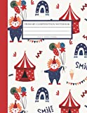 Primary Composition Notebook: Primary Story Journal Grades K2 with Dotted Midline and Picture Space (Red Circus)
