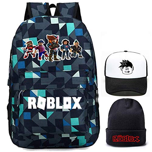 Kids Roblox Backpack, Student Bookbag Shcool Bag Laptop Daypack Travel Rucksack Computer Bag for Boys Girls Teens Game Fans Gifts (Lingger 1)
