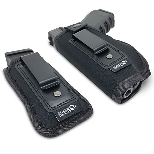 Concealed Carrier (TM) Universal IWB Holster for Concealed Carry | Inside The Waistband | Fits All Firearms S&W M&P Shield 9/40 1911 Taurus PT111 G2 Sig Sauer Glock 19 17 27 43 (Left-Handed)