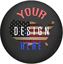 Custom Spare Tire Cover You Design Personalized Full Color fits Jeep or Camper RV Accessories Size 35 Inch