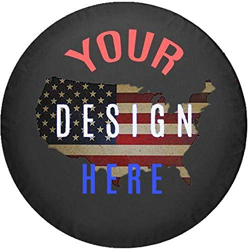 Custom Spare Tire Cover You Design Personalized Full Color fits SUV or Camper RV Accessories Size 33 Inch