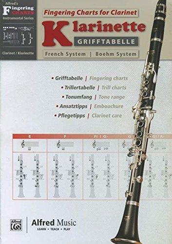Grifftabelle Klarinette Boehm-System | Fingering Charts Bb Clarinet French System | Klarinette | Buch von diverse (18. Oktober 2013) Musiknoten