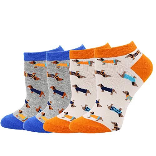 COCO TOE® Damen Socken H&e Motive Dackel Socken Dog Socks (OneSize, Dog04)
