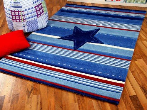 Lifestyle Kinderteppich Blau Stern in 3 Größen !!! Sofort Lieferbar !!!