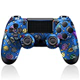 PYMENA Controller Wireless Compatible with PS4/Slim/Pro, Built-in 1000mAh Battery with Charging Cable