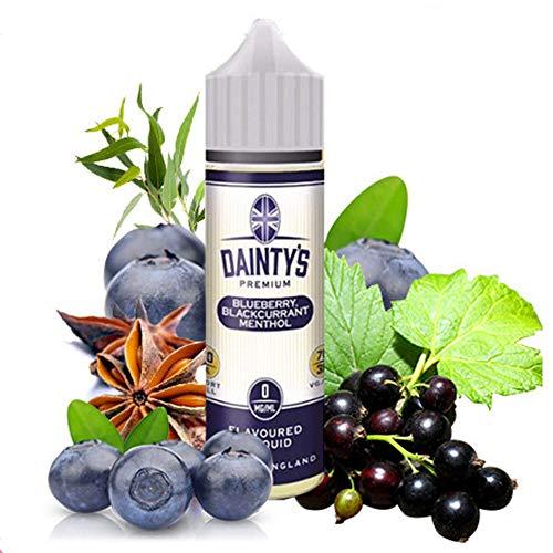 Daintys - Blueberry Blackcurrant Menthol - Eco vape E-Liquid | 50ML | Sin Nicotina: 0MG | 70VG/30PG | E-Liquido para Cigarrillos Electronicos | Vaper | E Cigarette | E Shisha