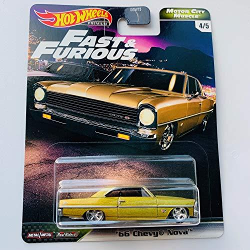 Hot Wheels Premium 2020 Motor City Muscle F&F, Gold '66 Chevy Nova