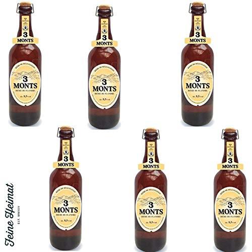 3 Monts Bière de Flandre helles obergähriges Starkbier 6 x 0,75 Ltr. 8,5% mit