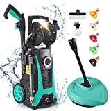 LTPAG Electric Pressure Washer, 3 in 1 High Portable Water Power Washer,1800W,135Bar,Flow 480L/H Washer With 5 Nozzles, 16ft Hoses, 16ft cable for Cars,Home,Garden,Furniture,Walls,Deep Clean Tasks