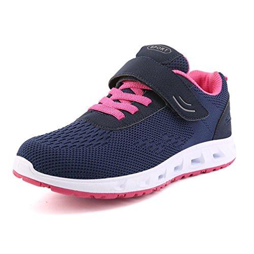 Adulte Mixte Fashion Running Chaussure Sneakers Respirant Casuel Loisir Basket Multisports Outdoor Randonée Jogging Antidéparant Léger 38 Prune Bleu Scratch Basse