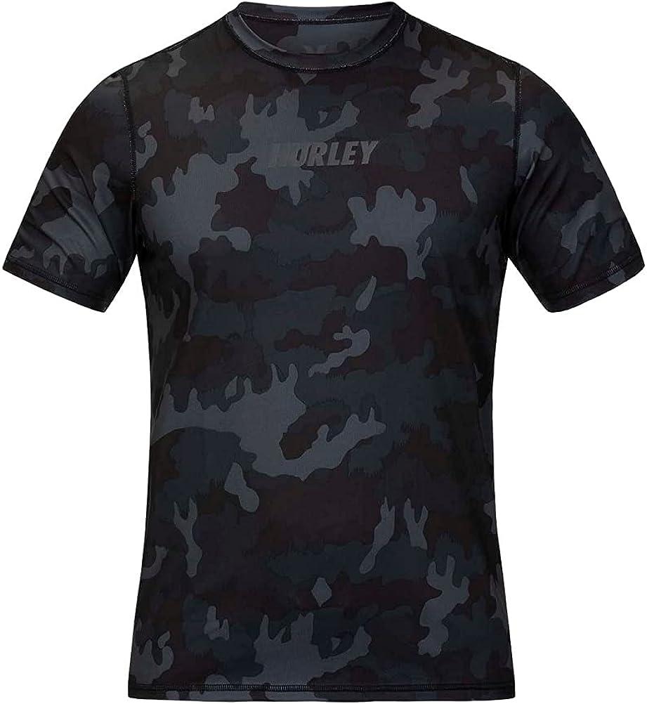 Hurley Men's Standard Fastlane Short Sleeve Active Sun Shirt Rashguard SPF