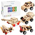 5 in 1 STEM Kit, Wooden Mechanical Model Cars Kits, Motorized Construction Engineering Set, Assembly Constructor 3D Building Blocks Educational DIY STEM Toys for Boys and Girls from Poraxy