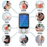 Electroestimulador Digital Portatil, Estimulador Muscular 16 Modos 2 Canales USB Recargable Masajeador Electro para el Cervical/Piernas/Abdominal/Espalda/Cuello