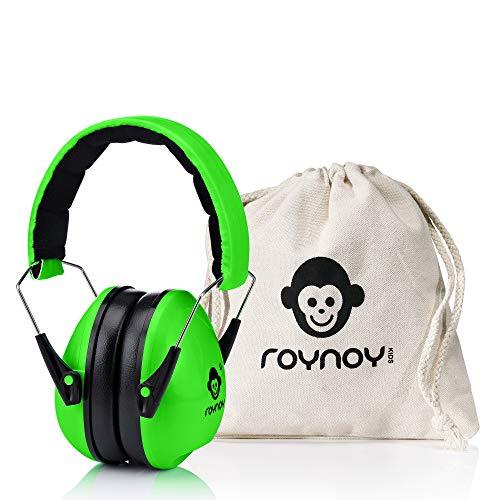 roynoy   Gehörschutz Kinder und Baby   ab 2 Jahre   Ohrenschutz Kinder   Ohrenschützer   Lärmschutz Baby   Lärmschutzkopfhörer Kinder (grün)