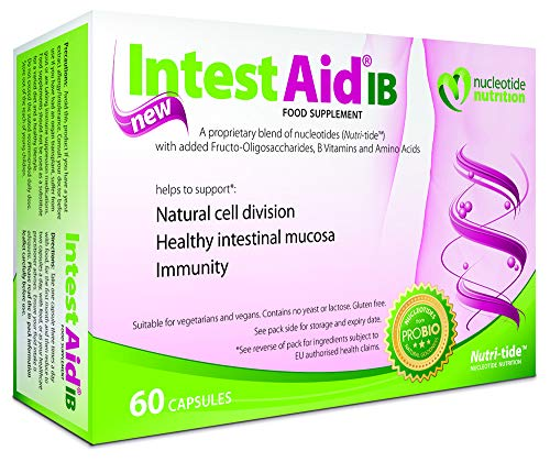Nucleotide Nutrition, IntestAid IB Food Supplement, Verified Gut health support, Pack of 60 vegi-caps - 30 Servings, INT60-002