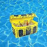 Materassino gonfiabile per piscina, porta bevande 2 in 1, porta bevande e snack, materassino gonfiabile per piscina, feste e divertimento in acqua (C)