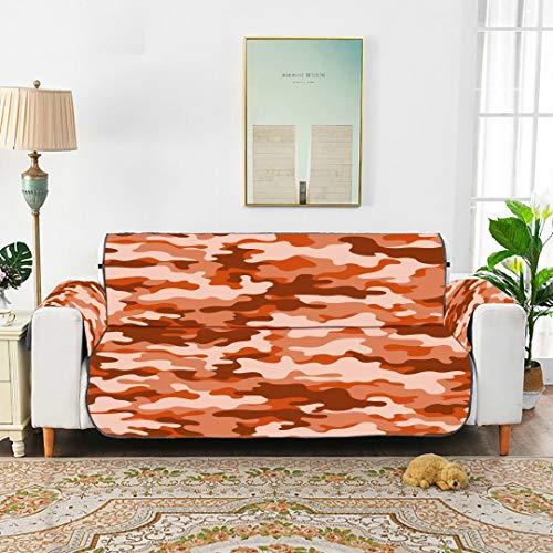 YSWPNA Classic Clothing Masking Camo Box Cushion Sofa Slipcover Recliner Sofa Cushion Estrechable Elastic Sofa Cover 66' for 3 Seat Sofa Protect from Kids, Dogs and Pets