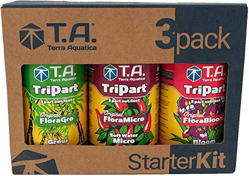 Terra Aquatica (GHE) 液体肥料スターターキット 3-Pack TriPart Starter Kit Soft Water 500ml