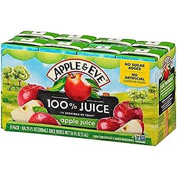 Apple & Eve 100% Juice Apple 6.75 Fluid-oz 8 Count Pack of 5