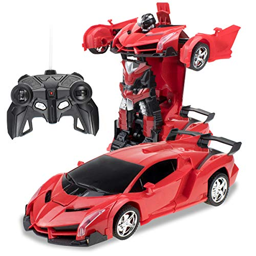 Cargooy RC Robot Car for Kids,Deformation Car for Kids, Remote Control Transform Robot Toys for...