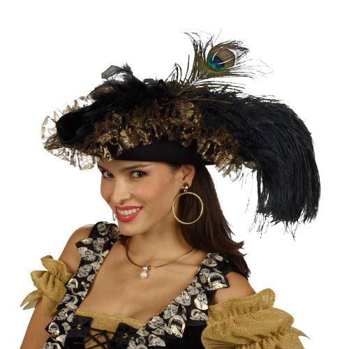Chapeau Pirate - Tricorne A Plumets - Accessoire Costume Femme