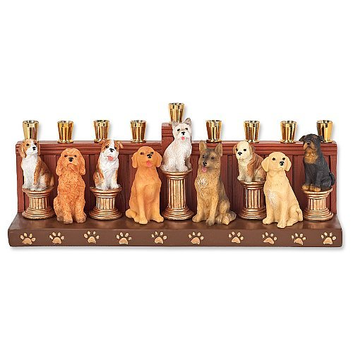 Aviv Judaica Dogs Earthenware Hanukkah Menorah By Jessica Sporn