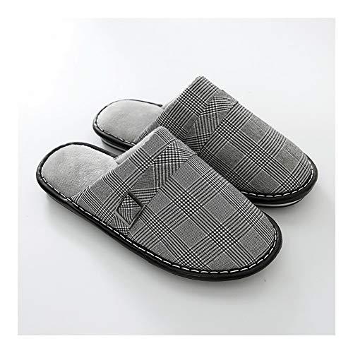 Suela de goma tacón de madera superior de piel sin Premium duraderos interior al aire libre zapatos de la casa zapatillas de cuña baja Casual zapatillas de algodón cómodo Anti Slip Fácil Cerrar Prenda