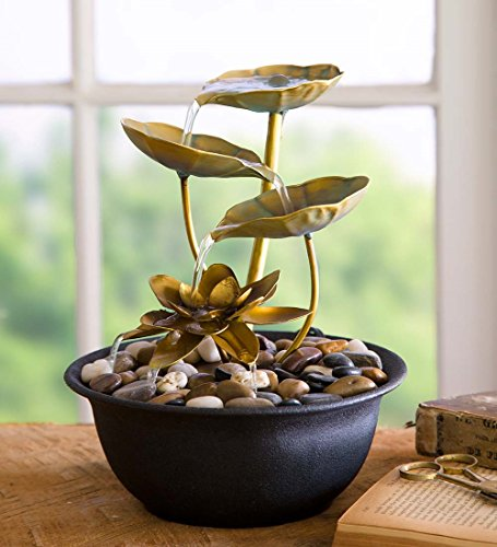 Wind & Weather Water Lily Indoor Fountain