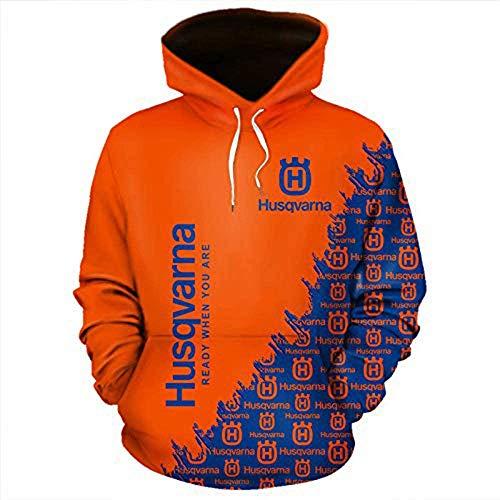 Sudaderas Sudadera Nueva Hombres sudadera pulóver - LOGO 3D Impreso Jersey de ciclo Primavera Casual Uniforme de béisbol Deportes de manga larga chaqueta Jumper - Adolescentes regalo de Orange-XXXXXL