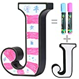 Marquee Letters - Light Up Letter Shaped Doodle Board with 2 Markers for Handwriting Drawing Painting - Funny Toys Gifts Name Sign for Kids Room Home Christmas Store Decoration J