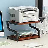 Soporte de escritorio de impresora, Estante de almacenamiento de escritorio de madera...