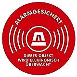 Aufkleber Alarmgesichert Kreis - 5cm