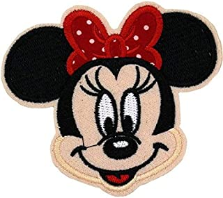 Minnie Mouse Red Polka Dot Bow Embroidered Patch 3.5