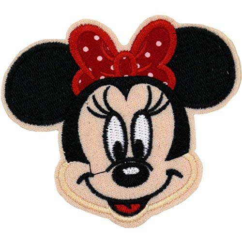 KHC 3.5' x 3.25' inches Cute Mouse Logo Sew On or Ironed On Badge Embroidery Applique Patch
