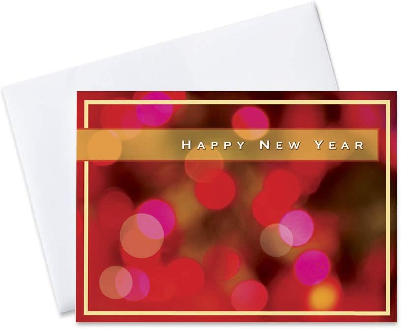 New Year Greeting Cards - Cheap sale N8004. Happy Super intense SALE with Y