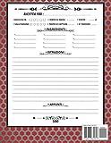 Zoom IMG-1 ricettario da scrivere quaderno ricette