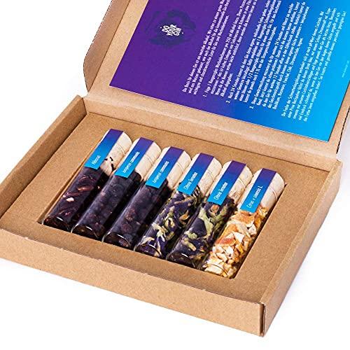 DO YOUR GIN Farbwechsel Set | DIY Color Changing Gin-Set – für zu Hause oder als Geschenk | Bekannt aus Sat1, Vogue, Spiegel | 6 Botanicals im Glas | Craft Gin Infusion zum Selber-Machen